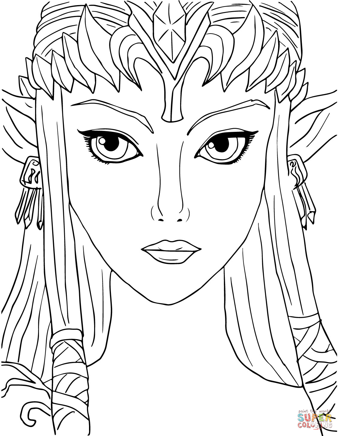 Zelda twighlight princess coloring pages only coloring pages for Princess coloring page