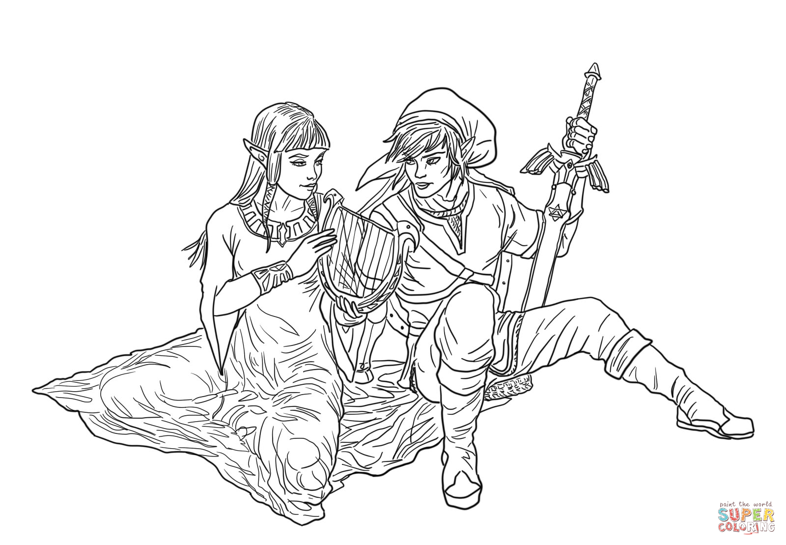 Zelda Twighlight Princess Coloring Pages Only Coloring Pages Link Twilight Princess Coloring Pages Printable