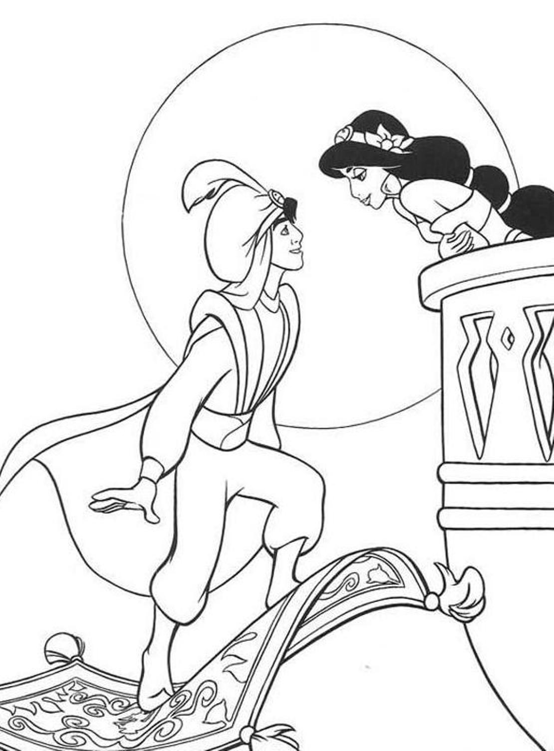 aladdin pictures coloring pages - photo#32