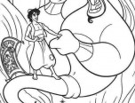aladdin genie coloring pages