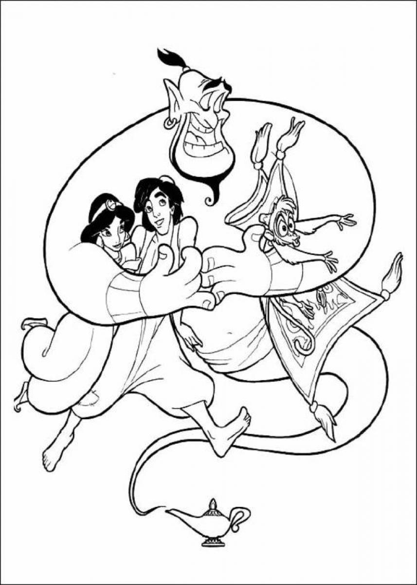 Aladdin genie coloring pages only coloring pages for Genie coloring pages