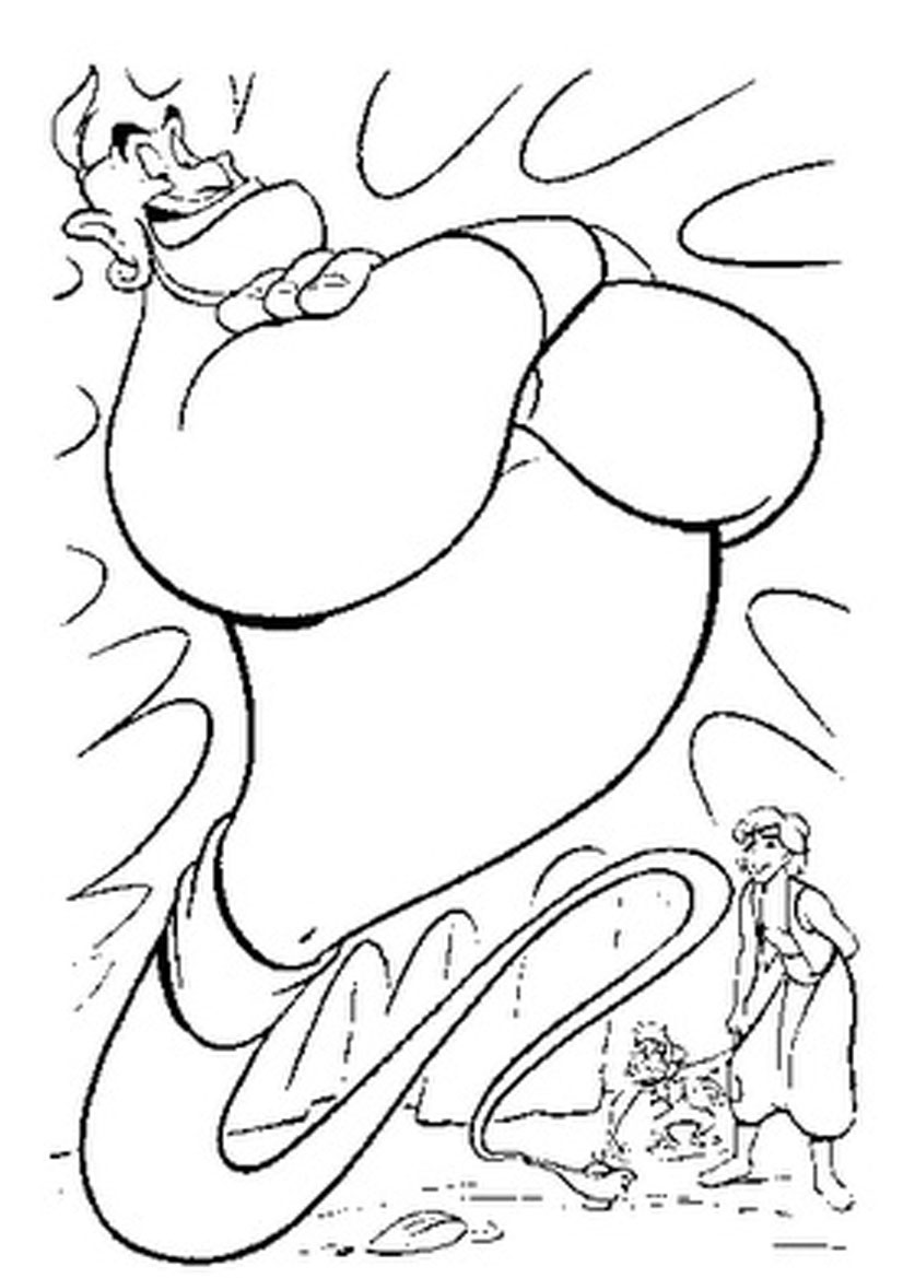 aladdin lamp coloring pages 01