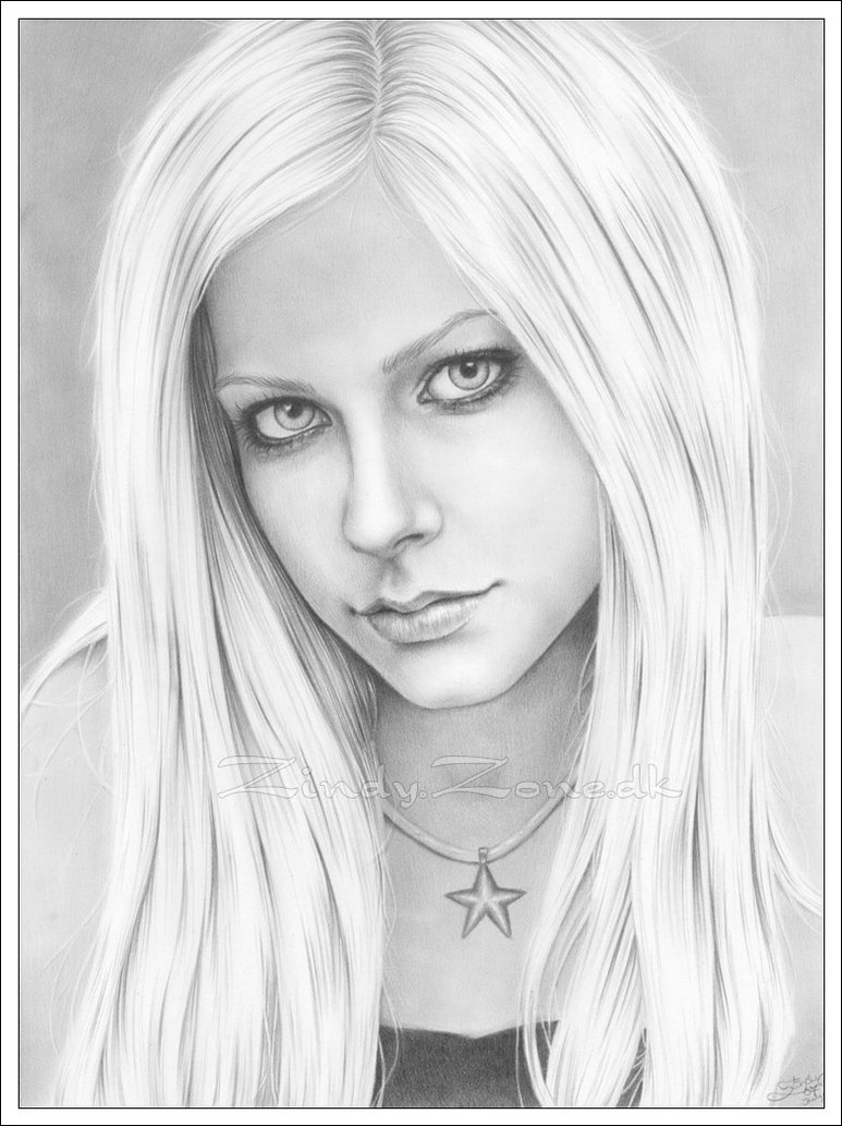 Avril Lavigne Coloring Pages