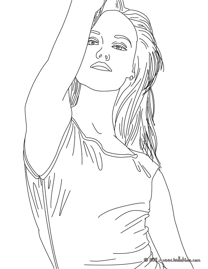 Avril lavigne coloring pages only coloring pages for Person coloring pages