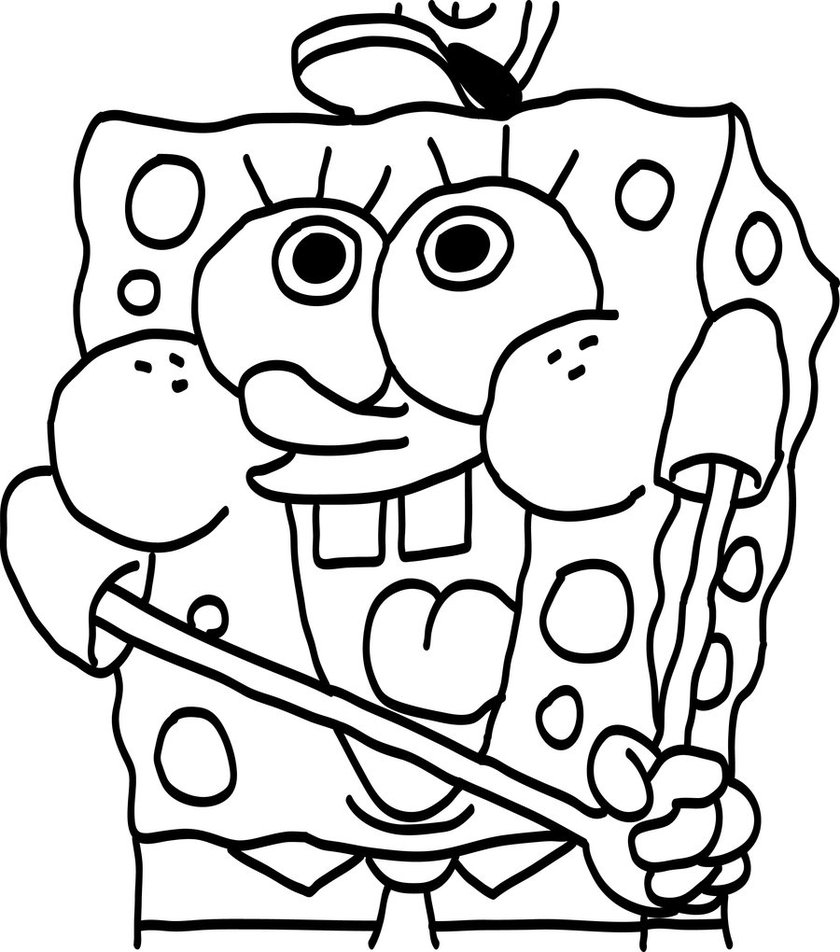 baby spongebob printable coloring