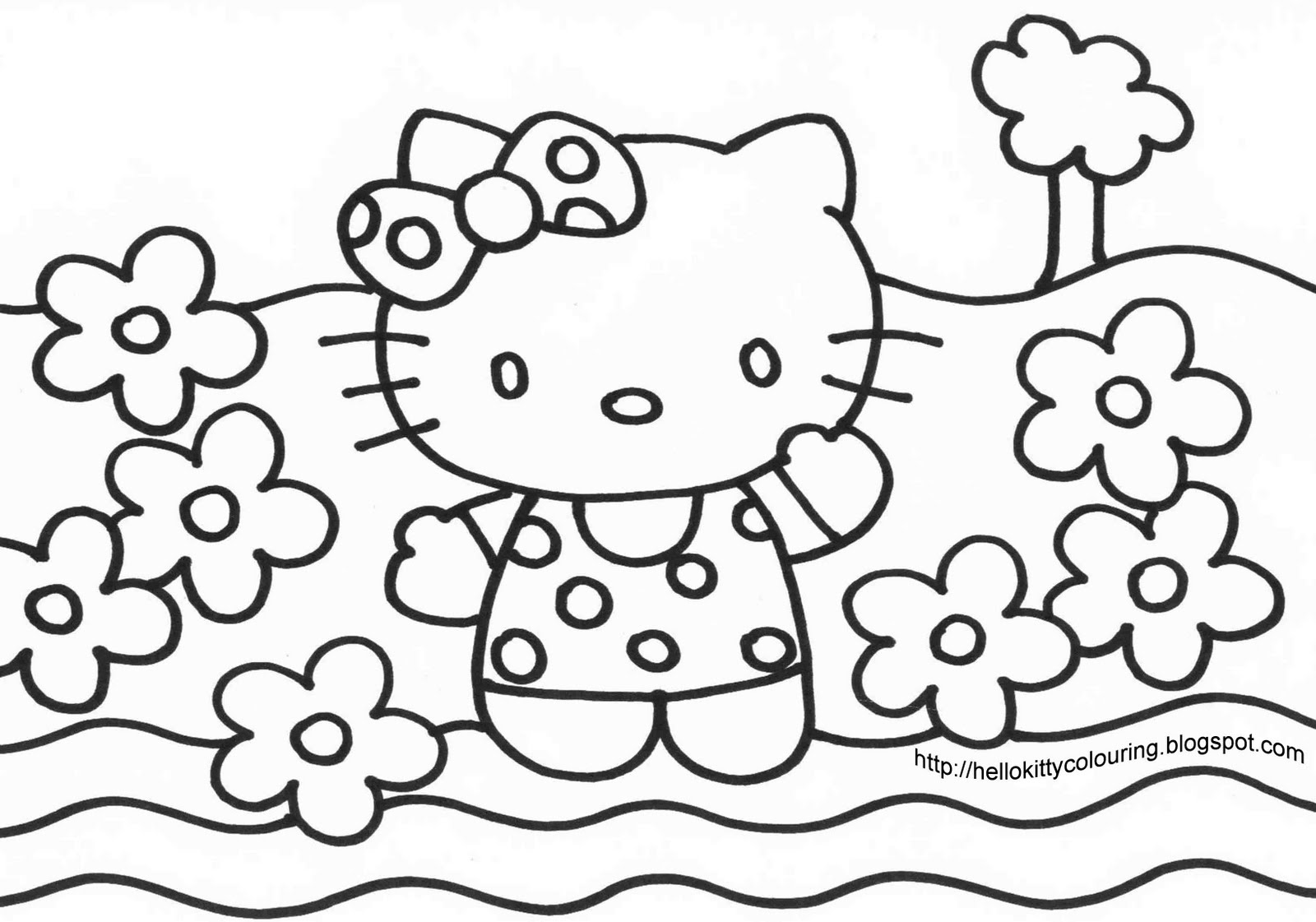All Hello Kitty Coloring Pages