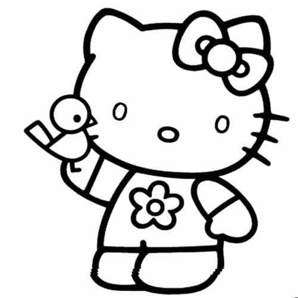 Hello Kitty Sleeping Coloring Pages : Coloring page hello kitty only pages