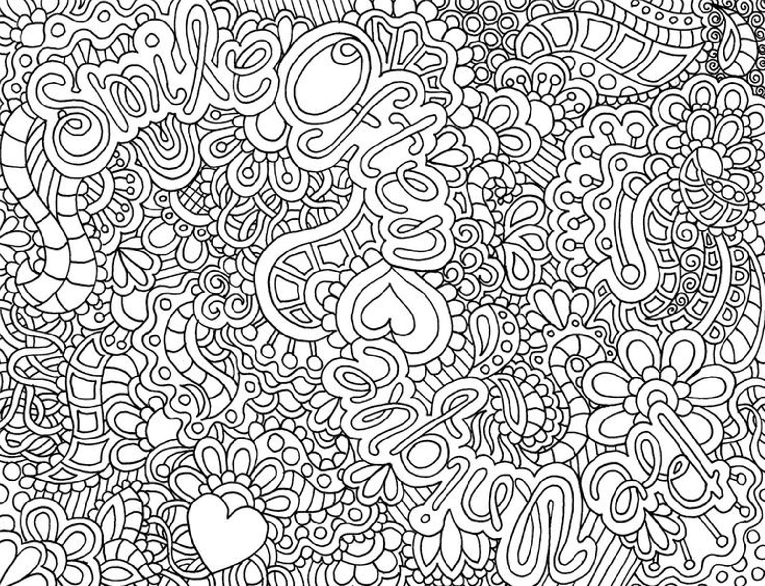 hard coloring pages for free - photo#1