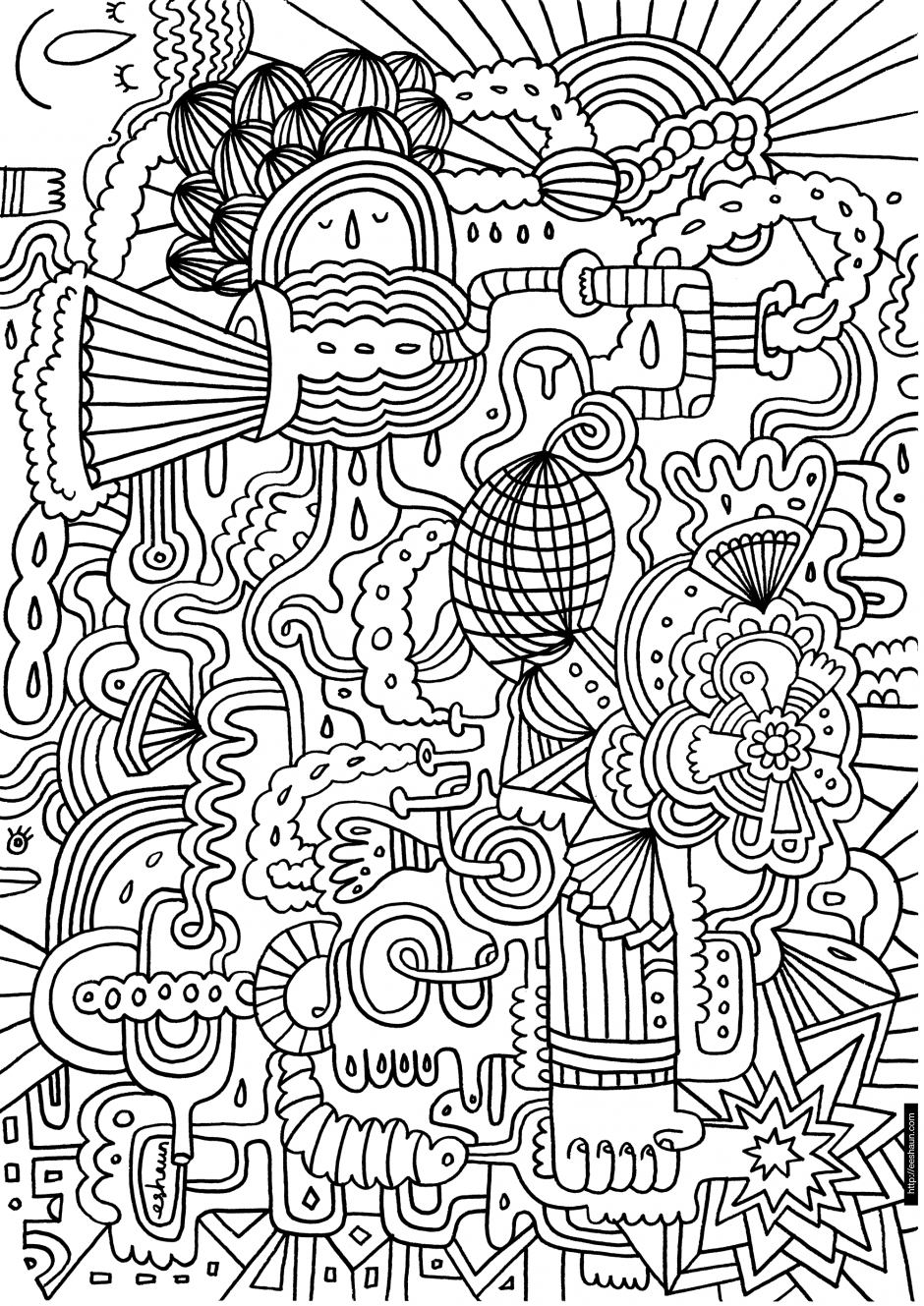 coloring pages of flowers for teenagers difficult 02