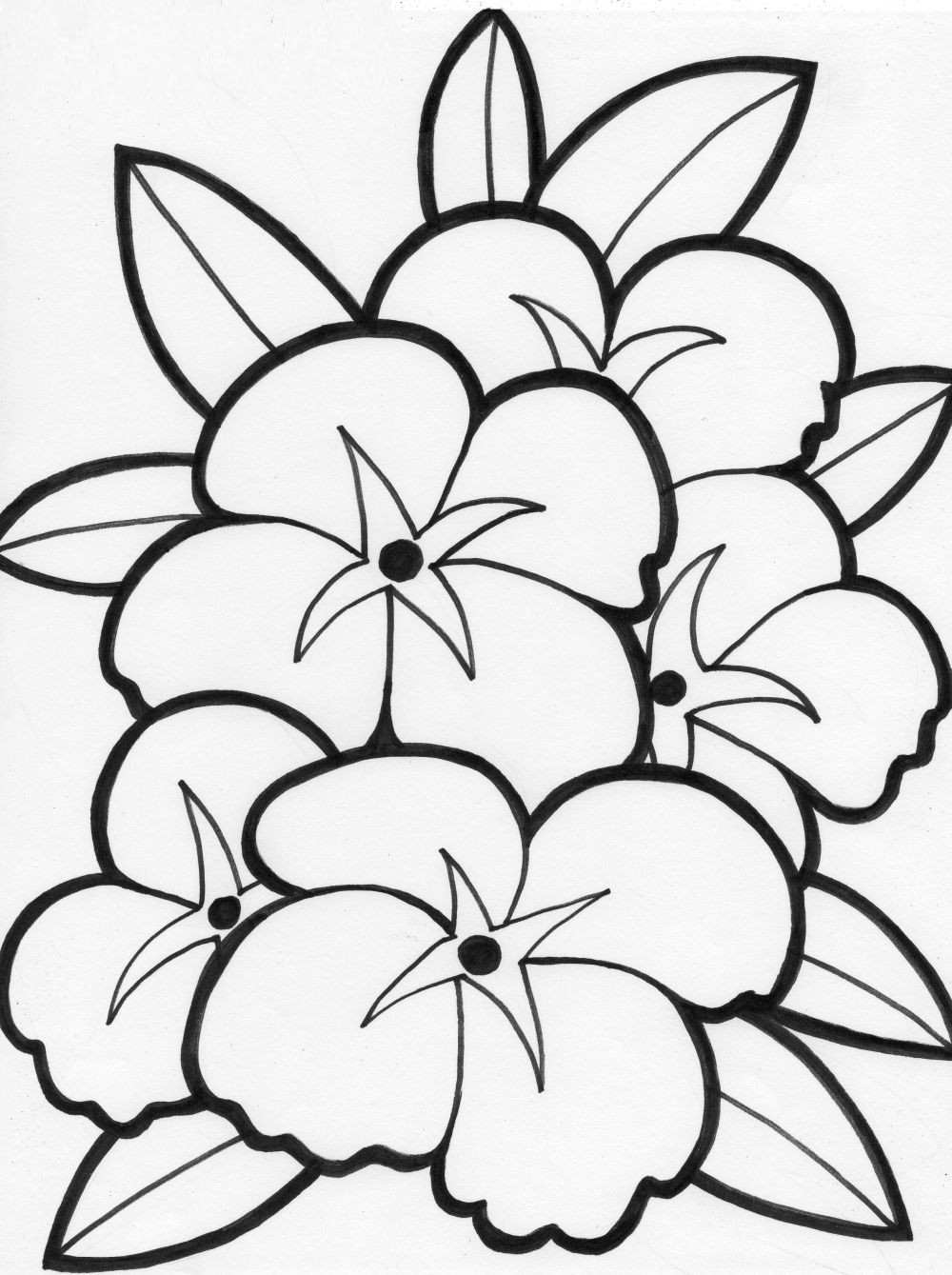 flowers coloring pages free printable - coloring pages of flowers for teenagers difficult