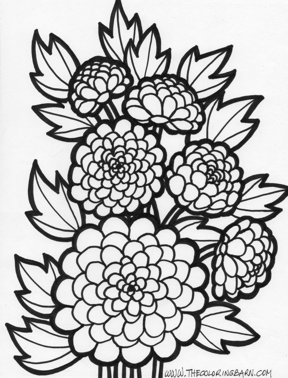 Coloring pages of flowers for teenagers difficult for Flower adult coloring pages