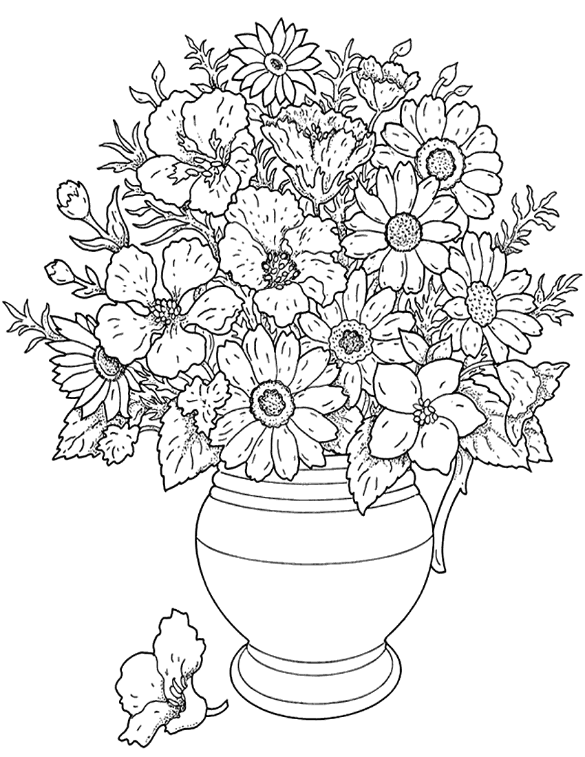 coloring pages of flowers for teenagers difficult 07