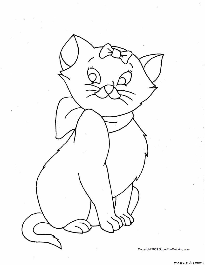 cute cat coloring pages Only