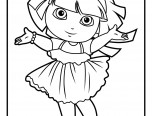 dora 2015 coloring pages