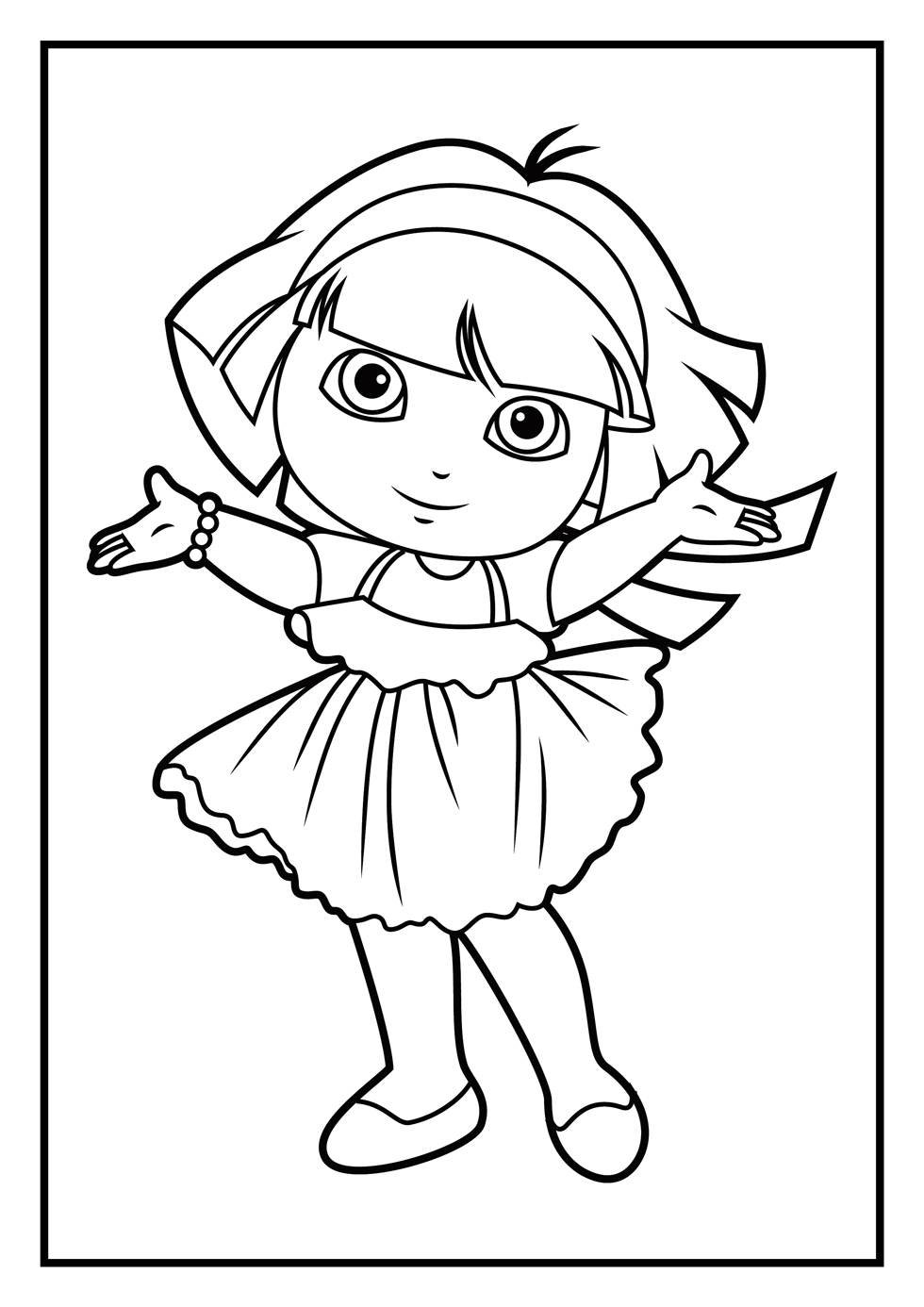 dora coloring pages Free Printable Online dora coloring