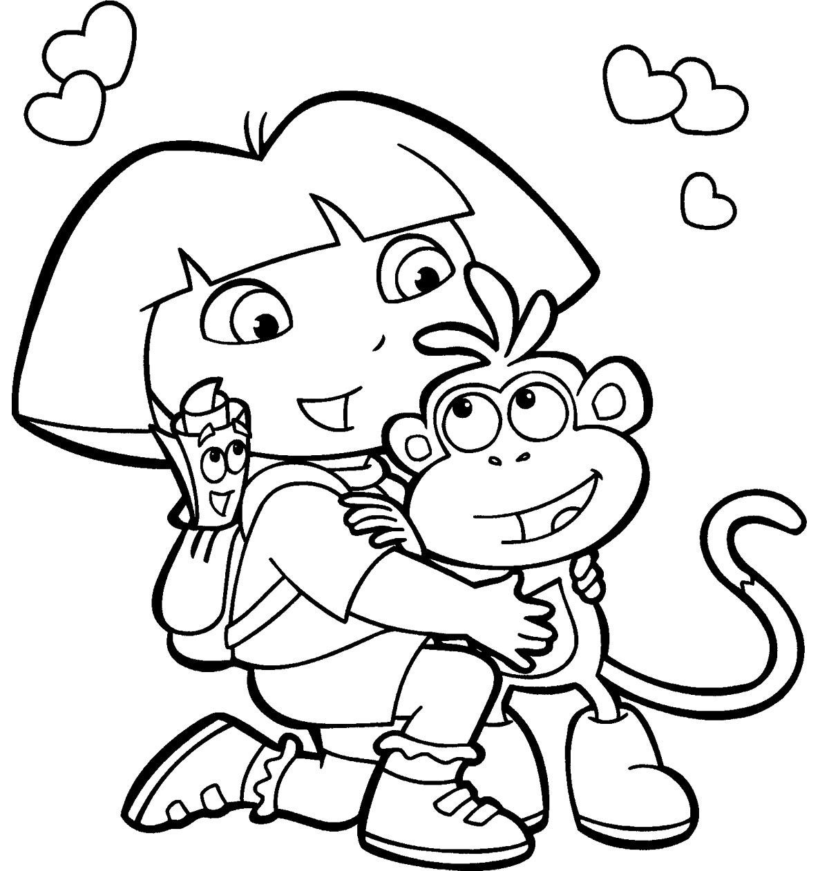 free download dora coloring pages - photo#2