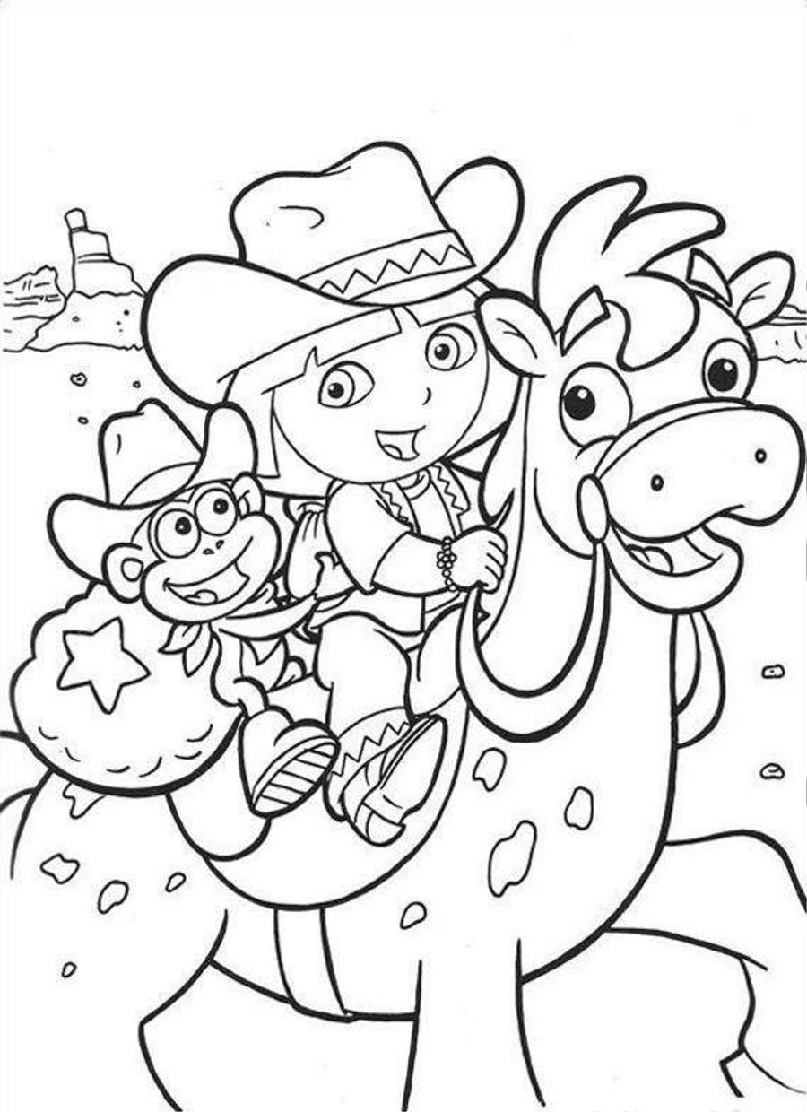 Dora Coloring Pages Only Coloring Pages
