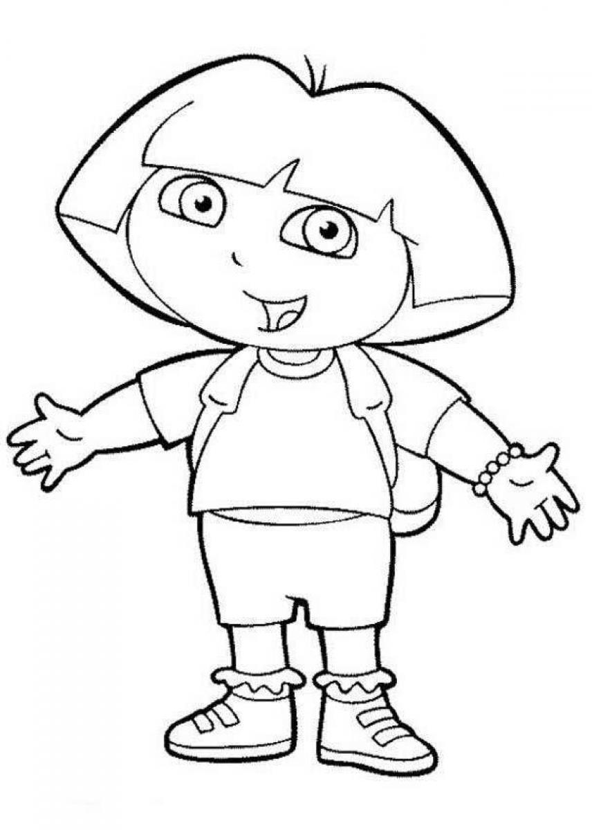 dora the explorere coloring pages - photo#17