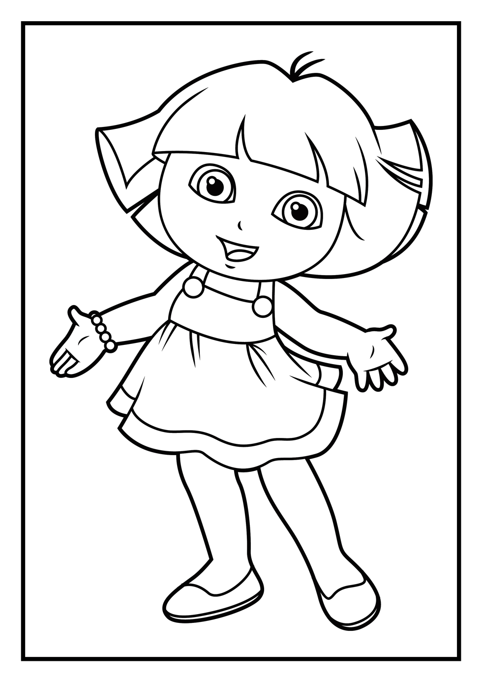 dora the explorer coloring page dora the explorer coloring pages only coloring pages