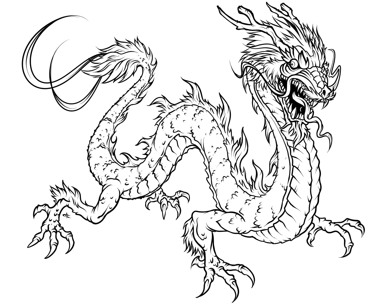 free coloring pages of dragon - photo #32
