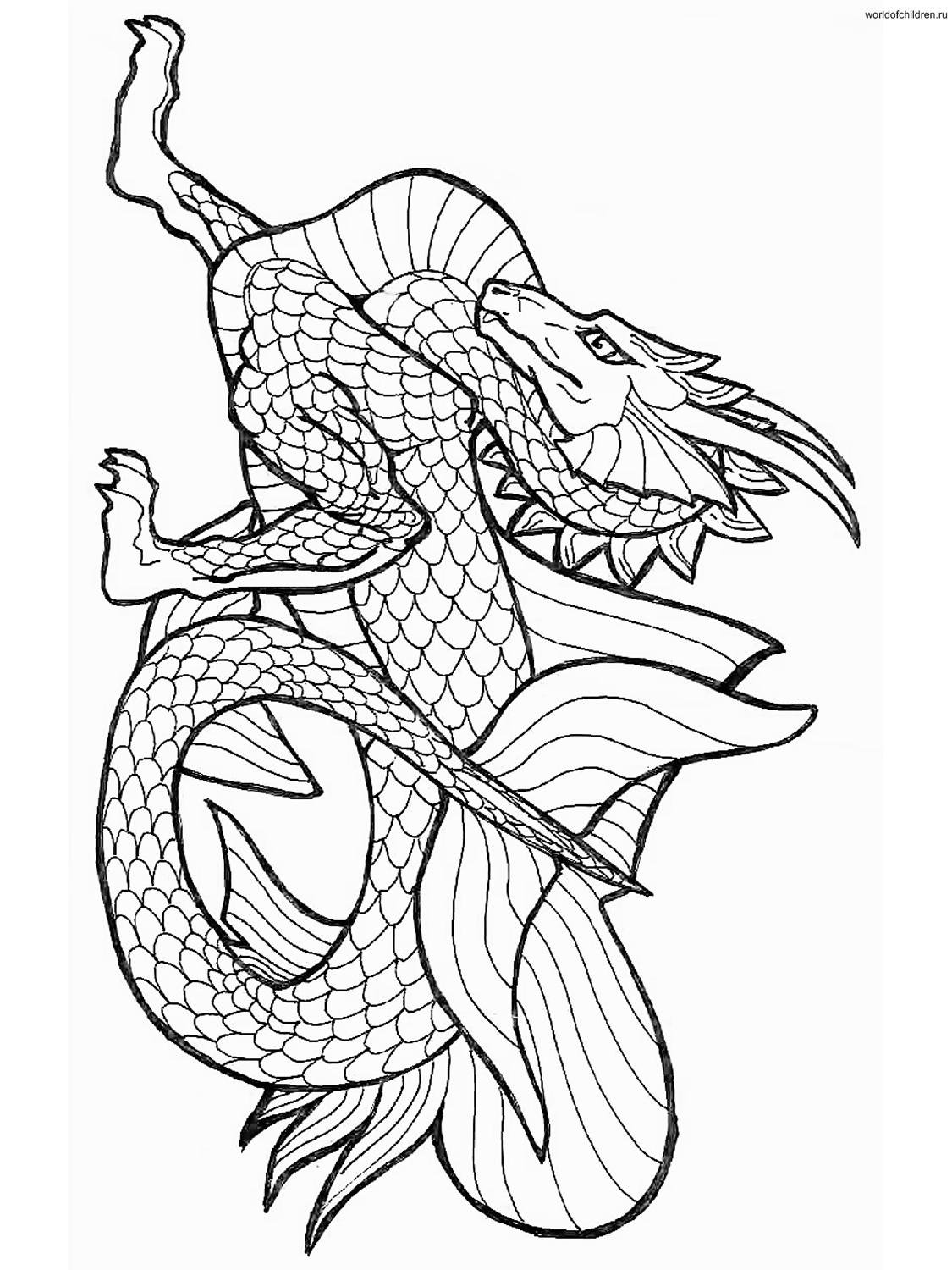 Dragon Coloring Pages Only Coloring Pages