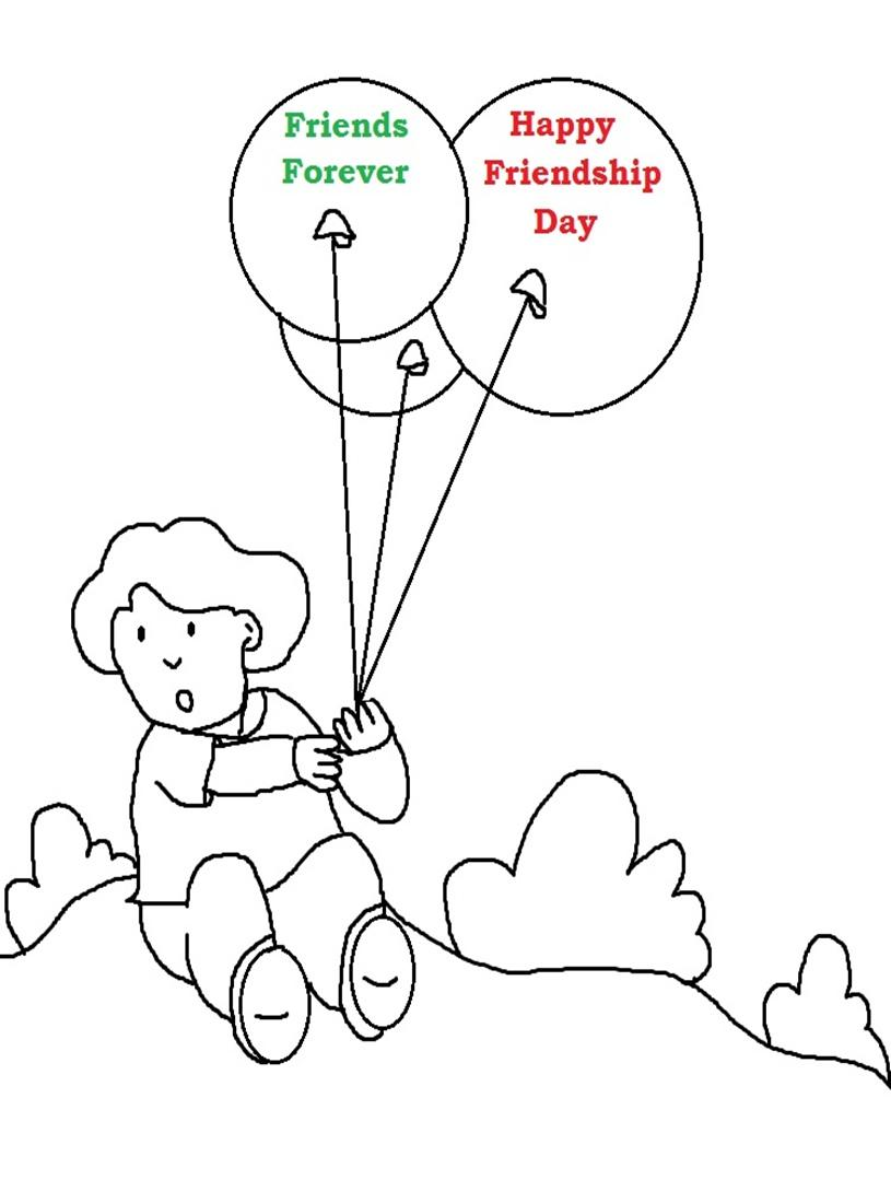 Friendship Day Coloring Pages 01