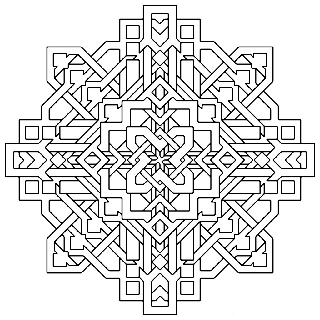 Geometric coloring pages only coloring pages for Geometric coloring pages for adults