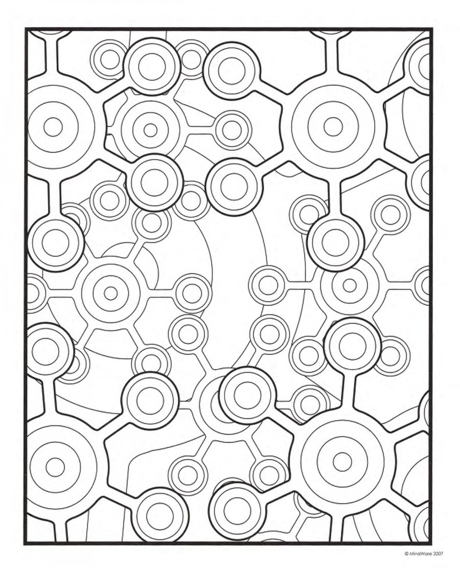 printable geomatric coloring pages - photo#35