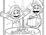 happy birthday coloring pages for kids