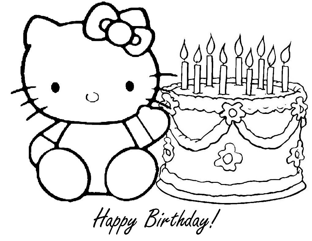coloring pages brithday - photo#24