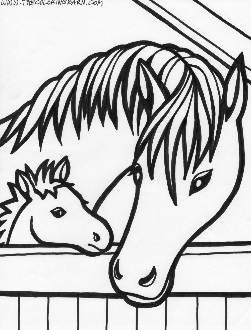 Horse Coloring Pages 01