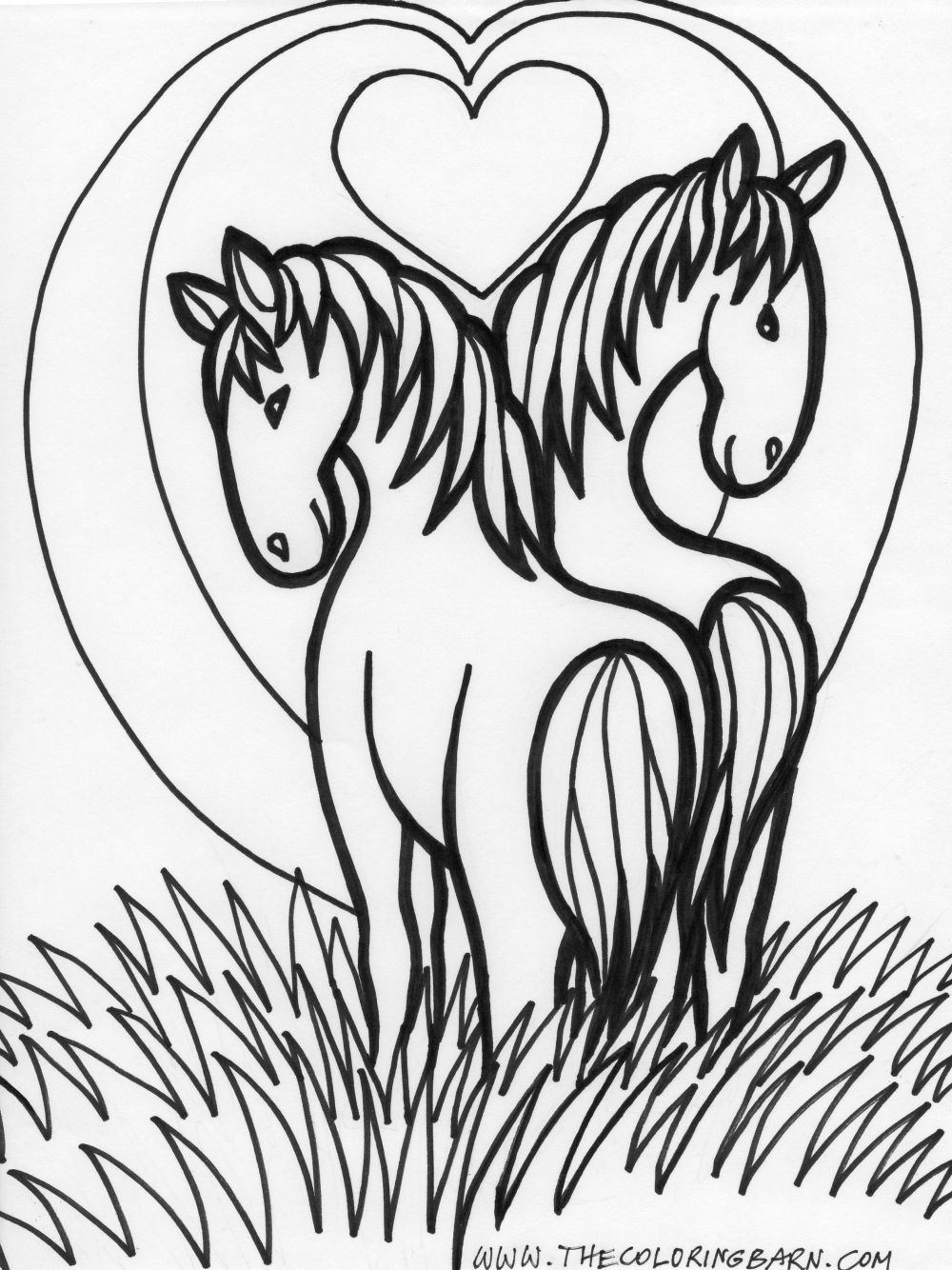 Horse coloring pages only coloring pages for Horse coloring pages printable free