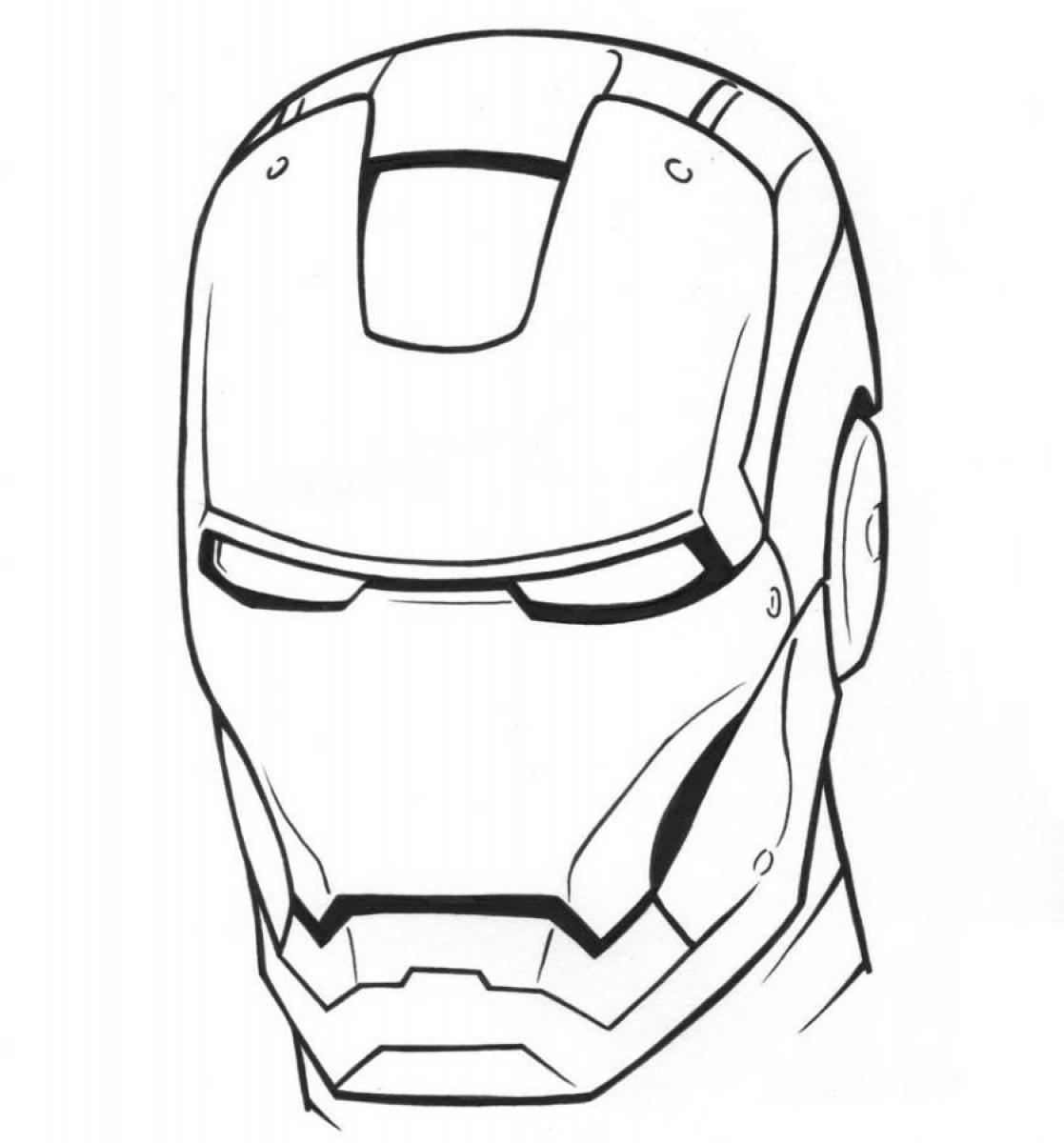 Ironman coloring pages only coloring pages for Disegni da colorare iron man