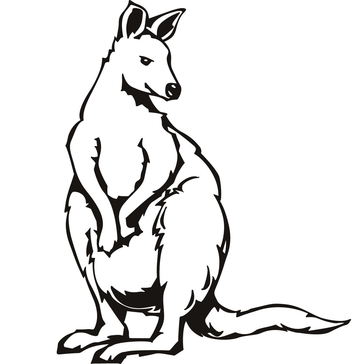 kangaroo coloring pages Only