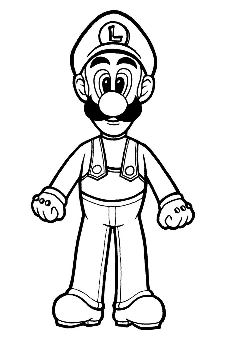 Luigi Haunted Mansion Coloring Page Coloring Pages