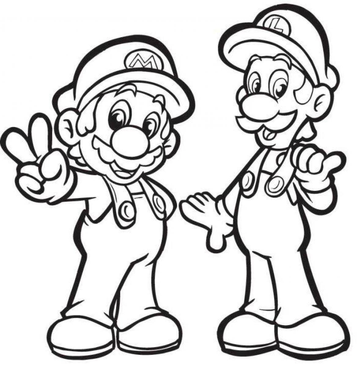 Luigi Coloring Pages Only Coloring Pages Luigi Coloring Page