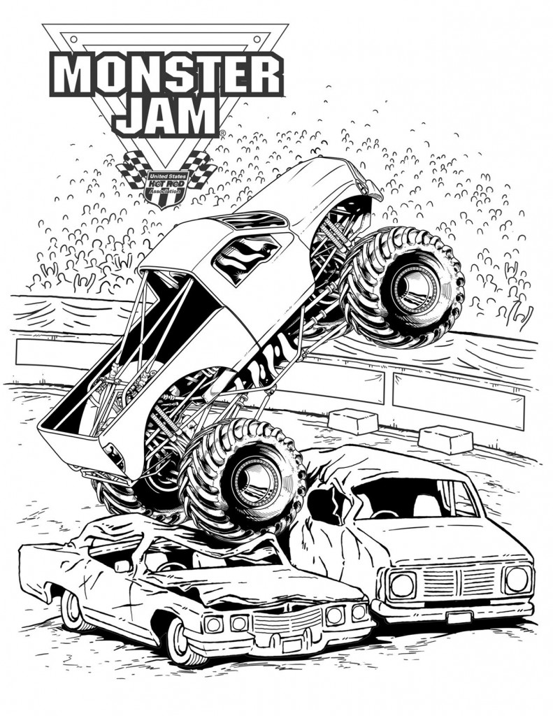 monster trucks coloring pages Only Coloring Pages