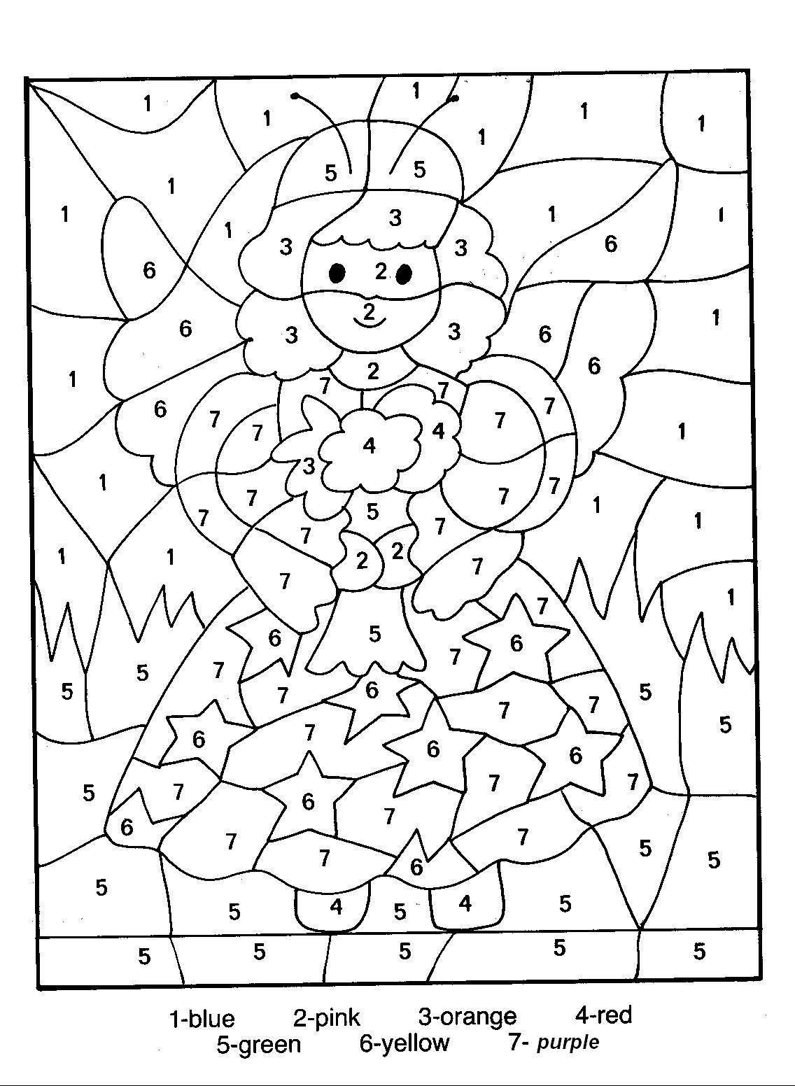 colour by numbers coloring pages - photo#10