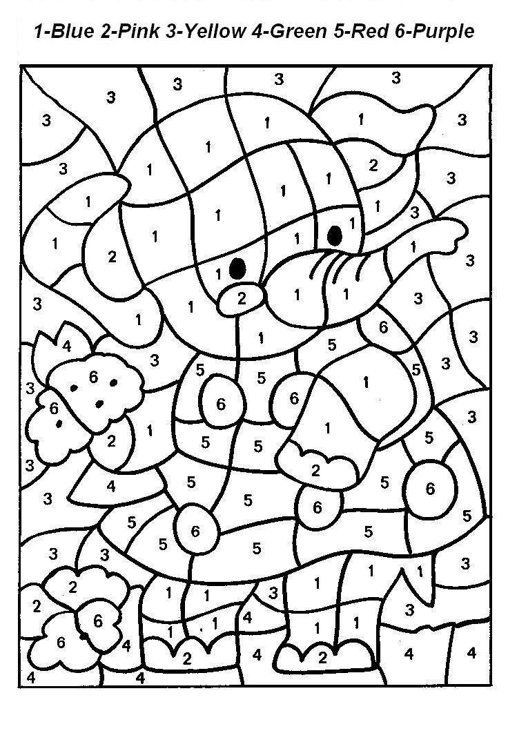 paint by number kids Colouring Pages