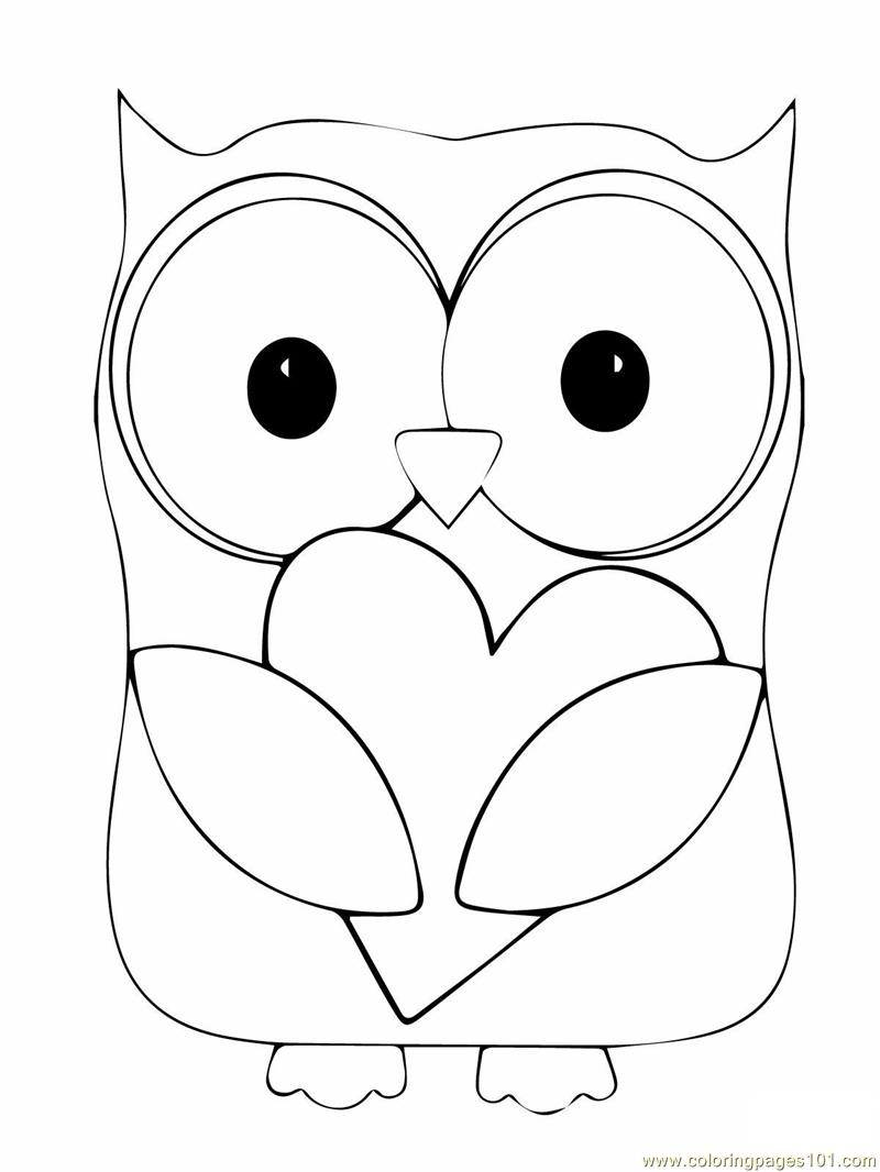 printable owl coloring pages - owl coloring pages only coloring pages