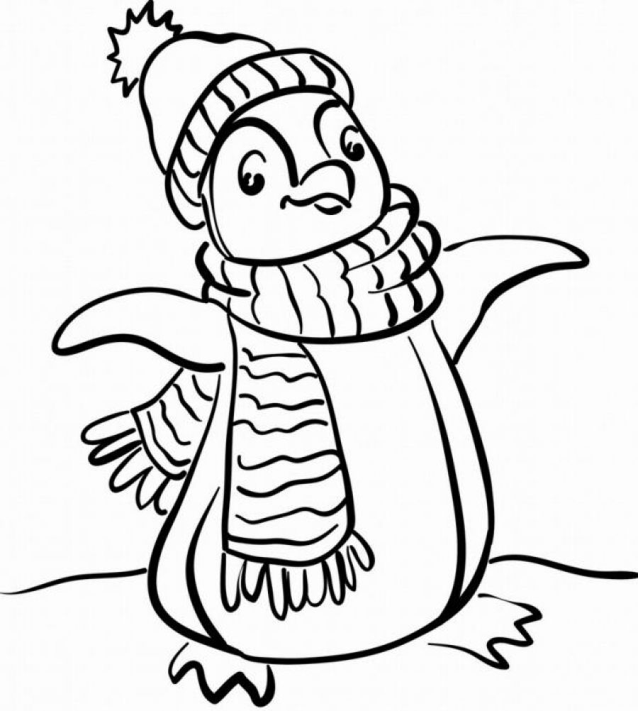 Penguin Coloring Page 01