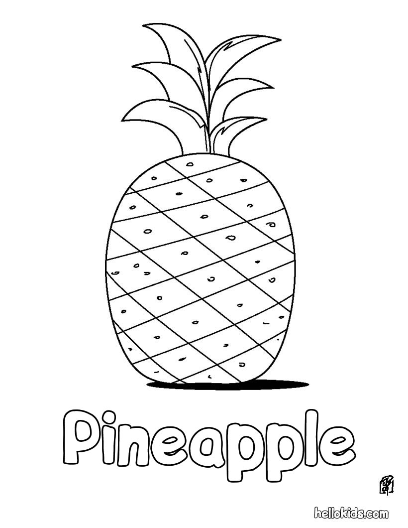pineapple coloring page 01