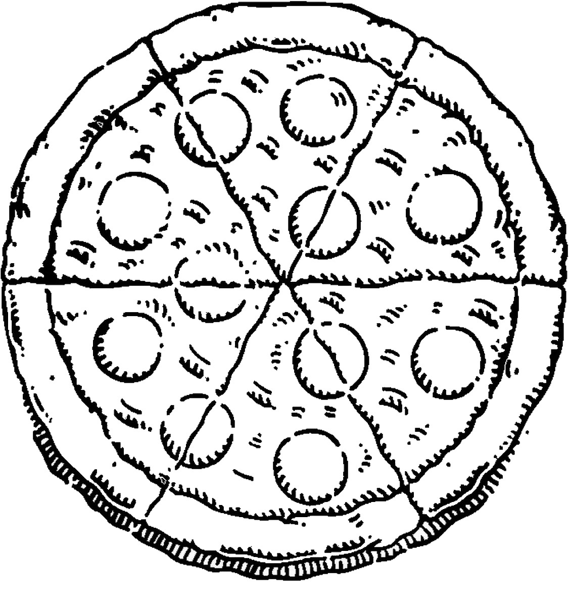 pizza coloring page 01