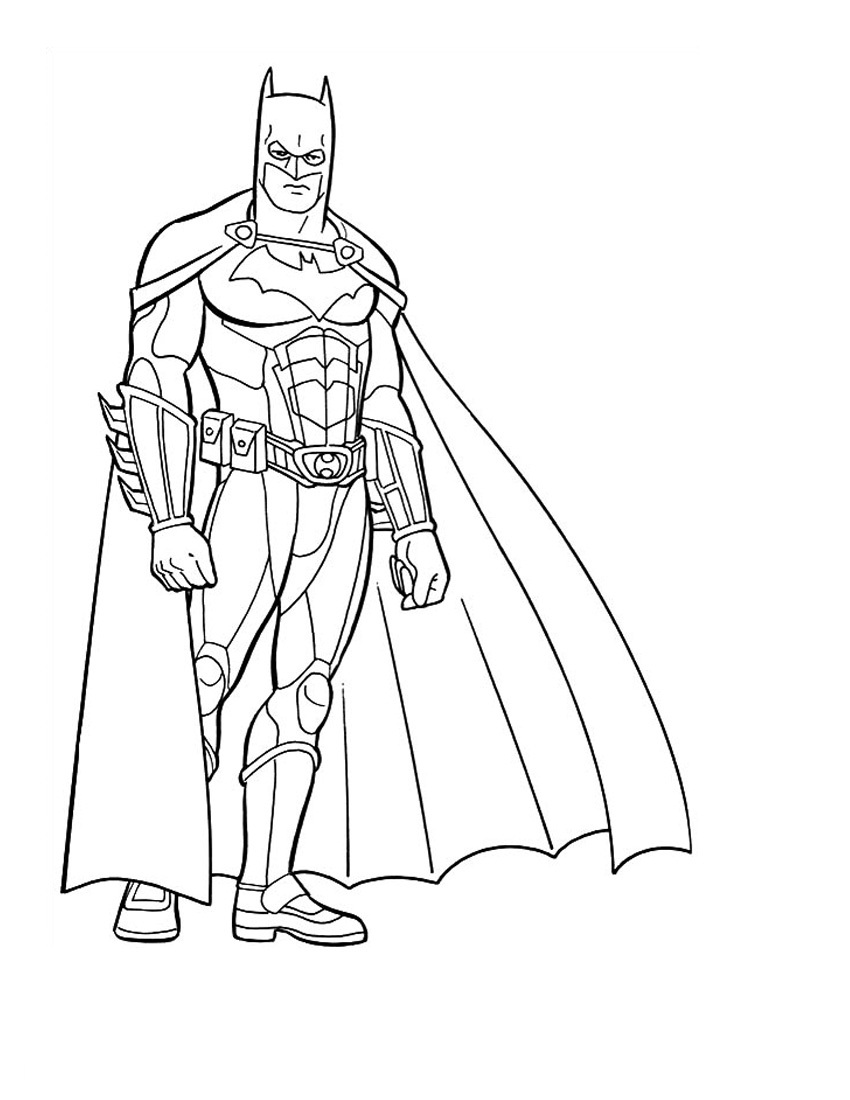 Printable Batman Coloring 01