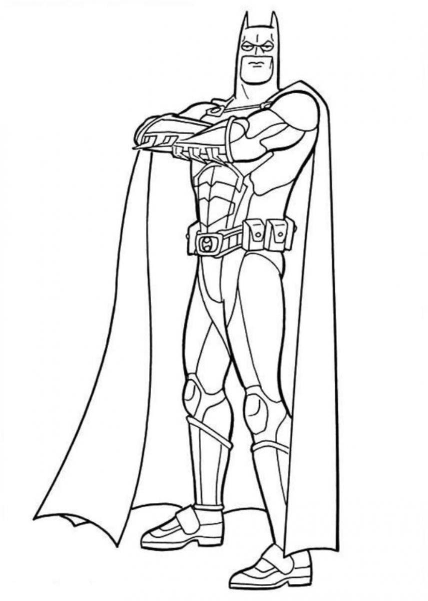 Free Coloring Pages Of Batman Car