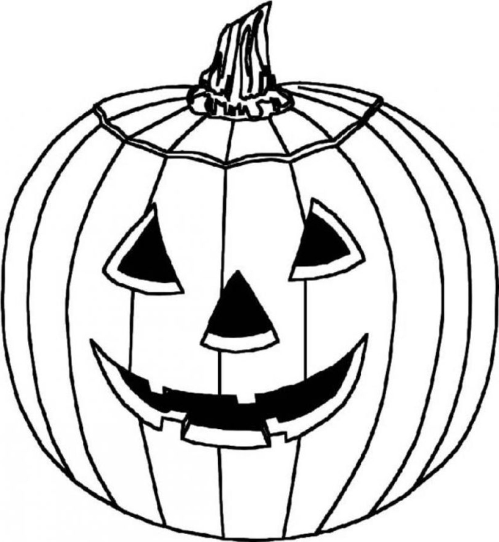 Pumpkin coloring page only coloring pages for Coloring pages pumpkin free