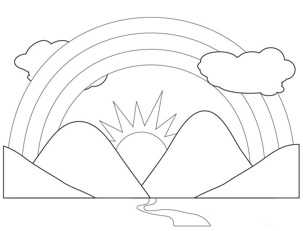 rainbow coloring pages for kid - photo#13