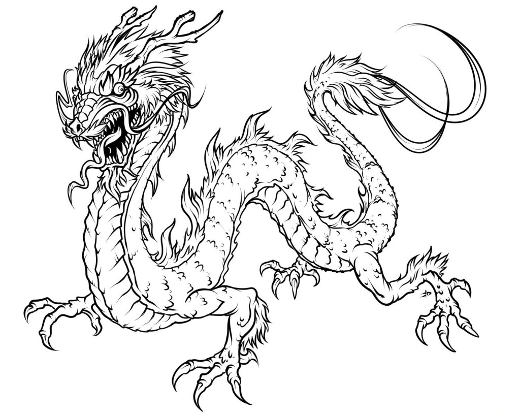 Realistic Dragon Coloring Pages Printableml