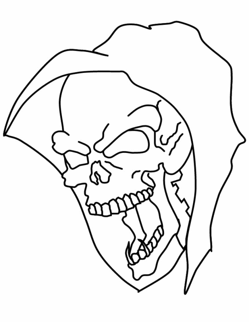 Skull Mask Coloring Pages 01