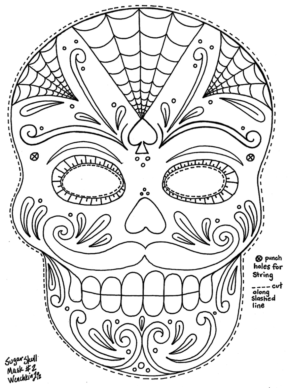 skull coloring pages for adults - skull mask coloring pages only coloring pages